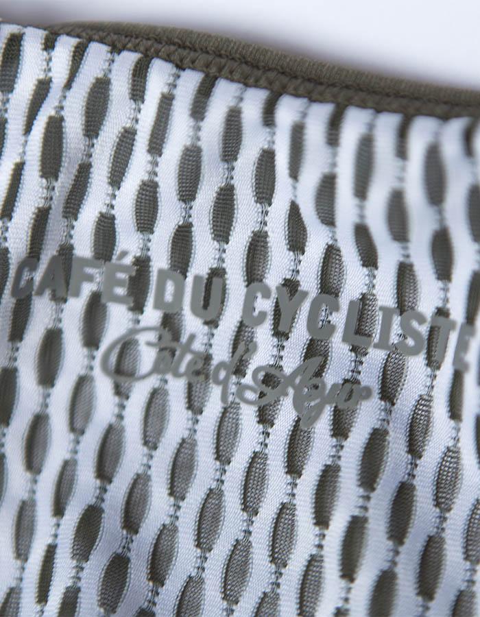 Detail of cycling bib shorts