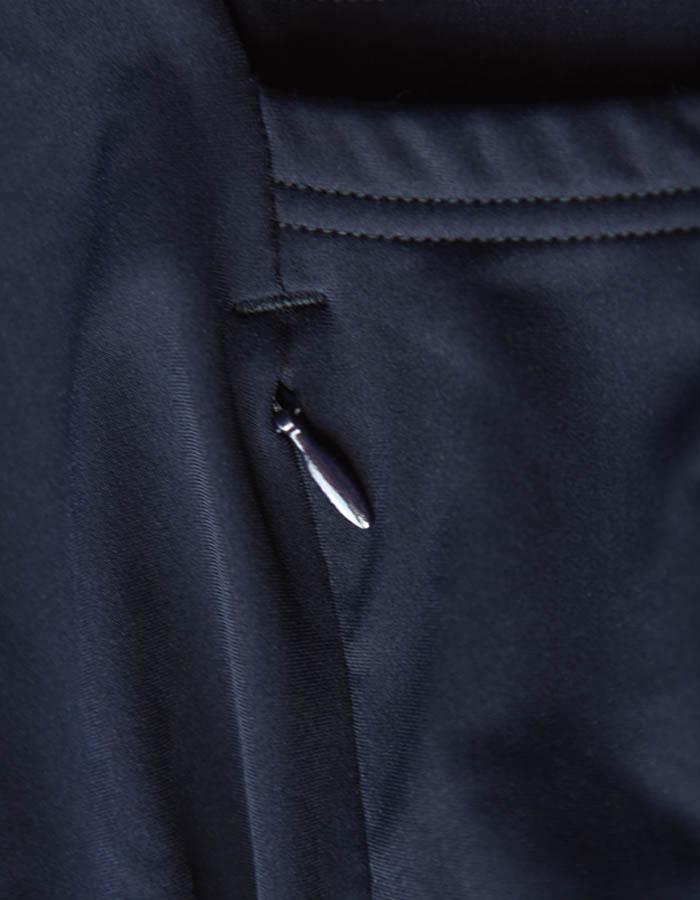 Detail of a Cafe du cycliste jersey zipper