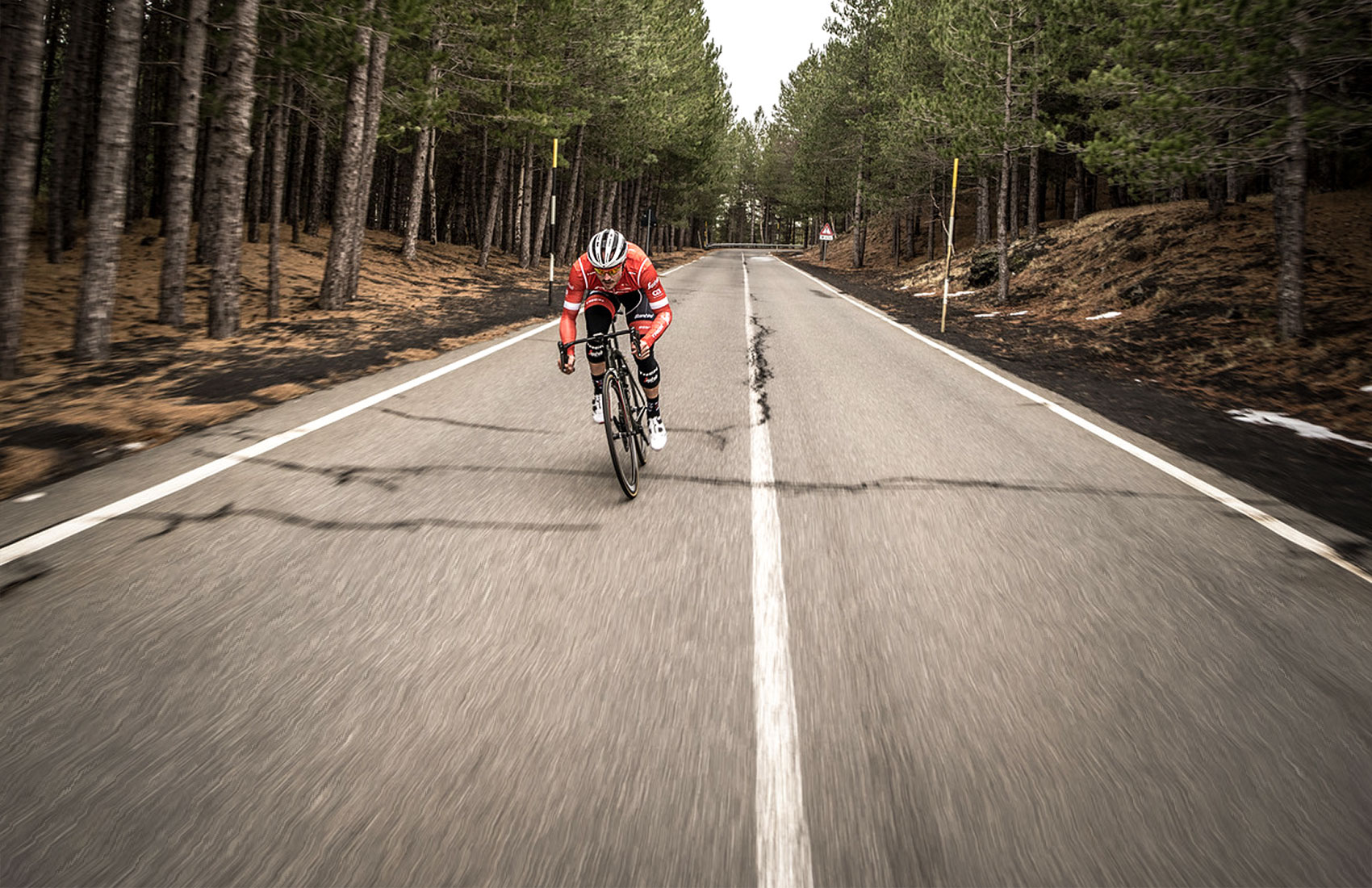 John Degenkolb training on Etna in the Trek-Segafredo cycling camp
