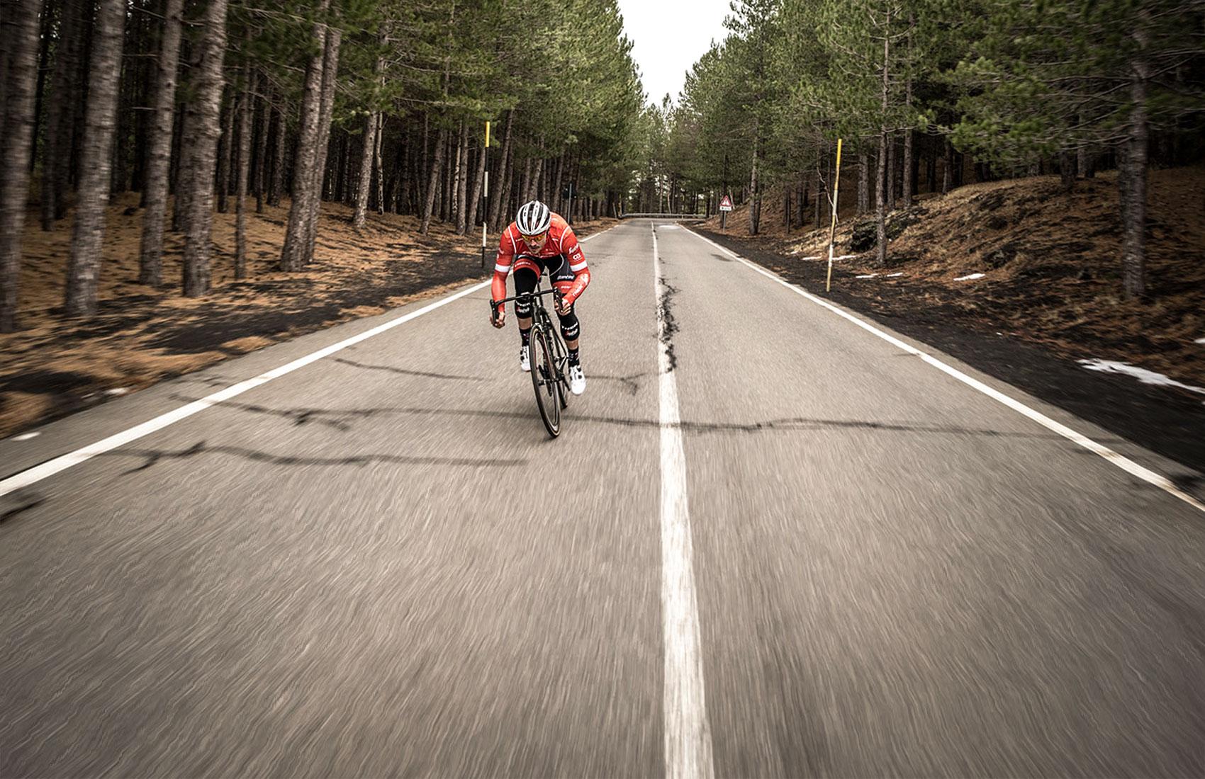 John Degenkolb training on Etna in the Trek-Segafredo cycling camp