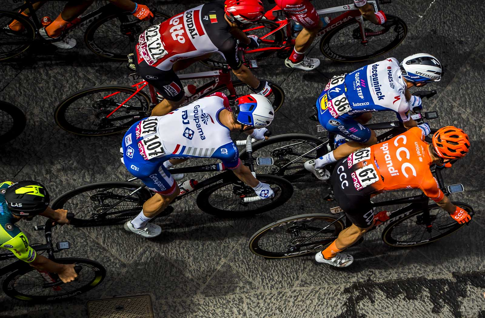 Rides in the Giro d'Italia in Catania shoot by Thomas Opstrup